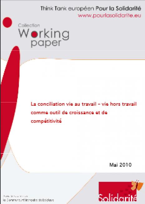 image couverture La conciliation vie au travail – vie hors travail comme outil de croissance et de compétitivité