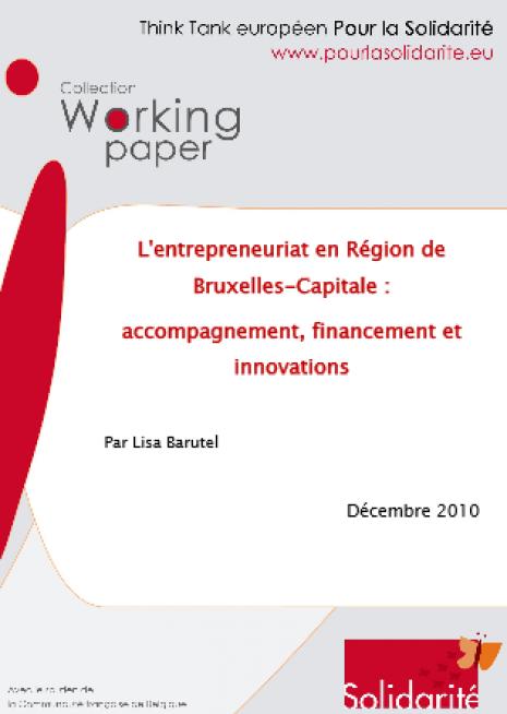 image couverture 1 L'entrepreneuriat en Région de Bruxelles - Capitale : accompagnement, financement et innovations