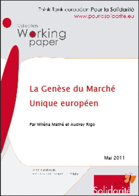image couverture La genèse du marché unique européen