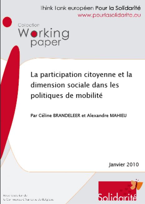 image couverture La participation citoyenne et la dimension sociale dans les politiques de mobilité