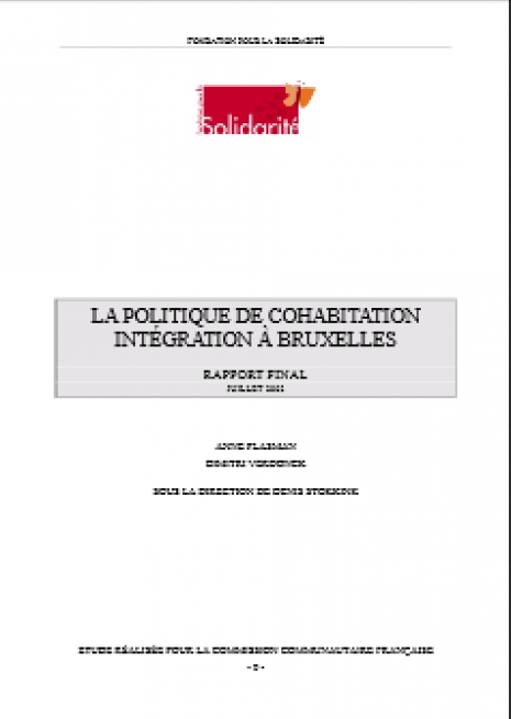 image couverture LA POLITIQUE DE COHABITATION INTÉGRATION À BRUXELLES